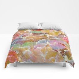 Hibiscus Trumpets #4 Comforters