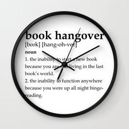 Book hangover defintion Wall Clock