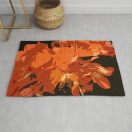 Orange Bush Lily Rug