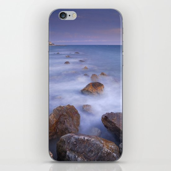 Blue sunset at the rocks iPhone & iPod Skin