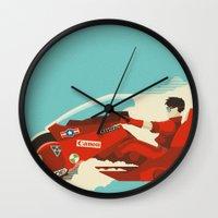 akira Wall Clocks featuring Akira by Danny Haas