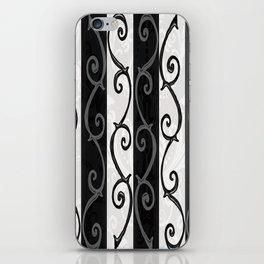 Burtonesque Stripes and Swirls.. iPhone Skin