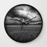 oklahoma Wall Clocks featuring Oklahoma Sky by Austin's Designs