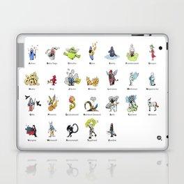 A-Z of Monsters & Mythology Laptop & iPad Skin
