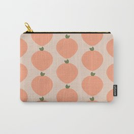Minimal Fruit Pattern - Peaches Carry-All Pouch