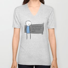Procrastination Unisex V-Neck