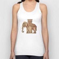 bastille Tank Tops featuring Elephant Bastille by Bluepress