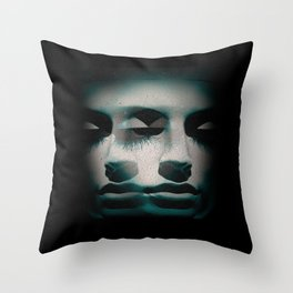 Vrtwork Blvck Bluez Throw Pillow