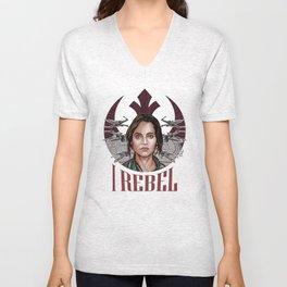 I Rebel Unisex V-Neck