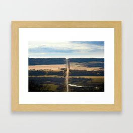 Pembina River + Valley Framed Art Print