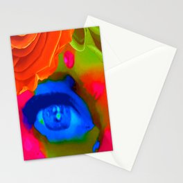 Peering Through the Rose Garden Stationery Cards