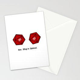 Yes, They're Natural. D20 Stationery Cards