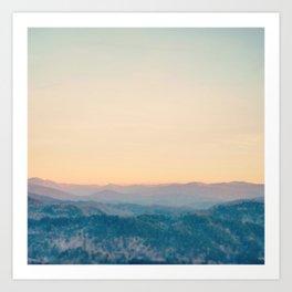 Mountain Sunset Art Print