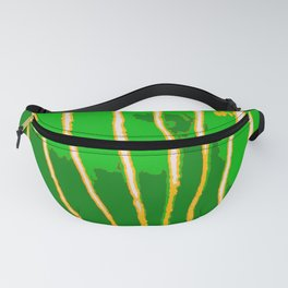 Green Bongo Stripes Fanny Pack