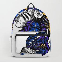 American Native Chieftain Head Backpack
