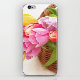Tulip in a basket iPhone Skin