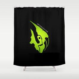 Interceptor Portrait Shower Curtain