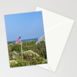 Sconset Cottages Overlooking The Sea Stationery Cards