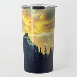 Sunset Over The Rockies Travel Mug
