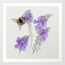 Watercolor Bumble Bee Art Print