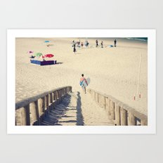 surfing Portugal Art Print