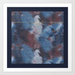 The Goddess Circle - Tie Dye Art Print