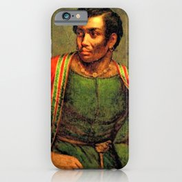 African American Shakespearian actor Ira Aldridge Painting by Henry P. Briggs iPhone Case