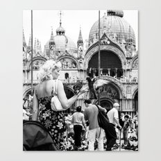 Birds of a Feather - St. Marks Square Italy Canvas Print