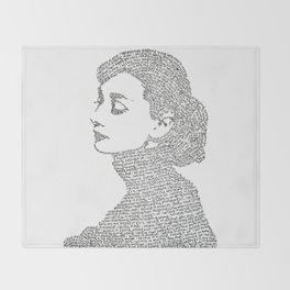Audrey Hepburn Throw Blanket