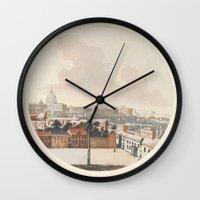 rome Wall Clocks featuring Rome by anipani