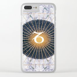 Capricorn Star Symbol Clear iPhone Case