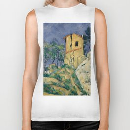 """Paul Cezanne """"The House with the Cracked Walls"""" Biker Tank"""