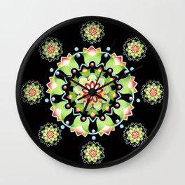 Firework Mandala Wall Clock
