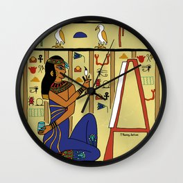 Egyptian Artist Wall Clock
