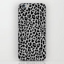 Neon Gray Leopard iPhone Skin