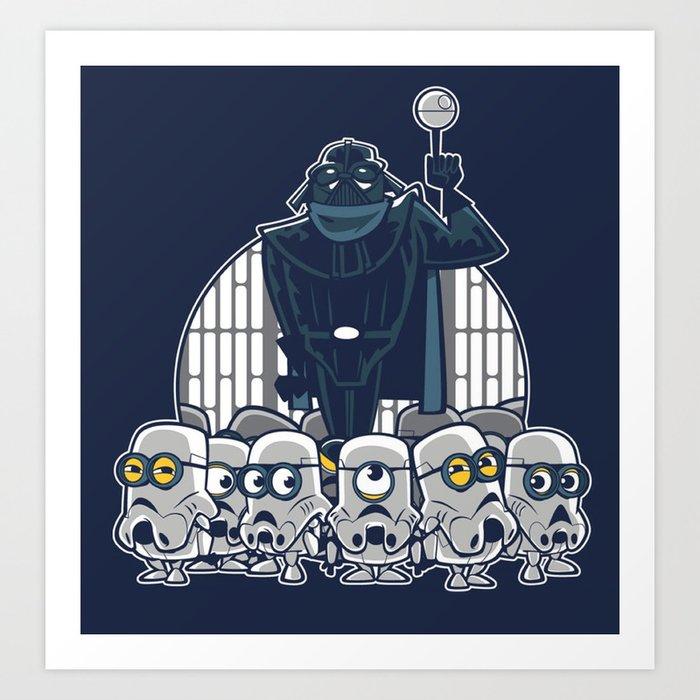 Stormtrooper Minions Art Print