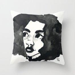 Inkjet afro Throw Pillow