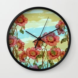 Incident with Flower #society6 #buyart #decor Wall Clock