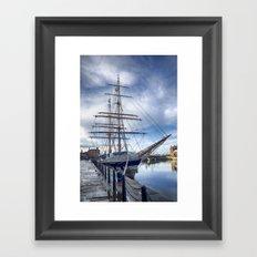 Tall ship Stavros S Niarchos Framed Art Print