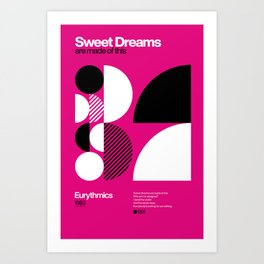 Sweet Dreams - Eurythmics - Typographic Poster Art Print