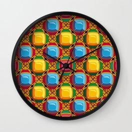 Pattern with diamonds Wall Clock