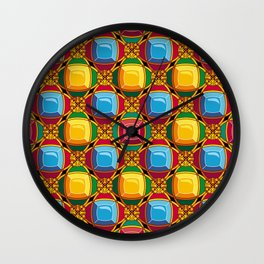 Pattern with diamonds Wall Clock