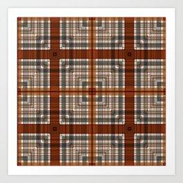 Multi Square Tile Pattern Design Art Print