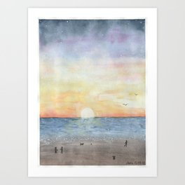 peaceful seaside Art Print