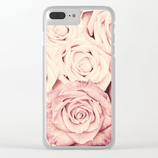 Some people grumble I Floral rose roses flowers pink Clear iPhone Case