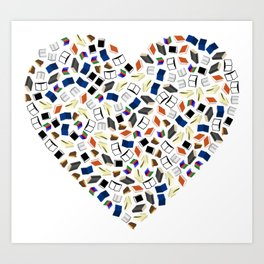 love reading, read, bookworm,bookish Art Print