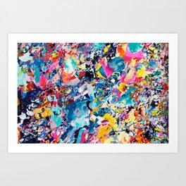 10 Year Table Canvas Detail Art Print