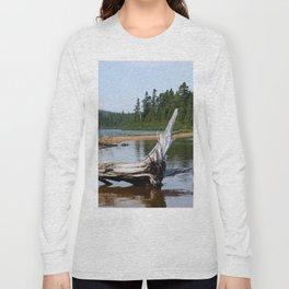 Peacefull Lake in Canada Long Sleeve T-shirt