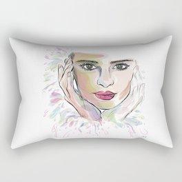 Beauty (part 1)- Watercolor series Rectangular Pillow