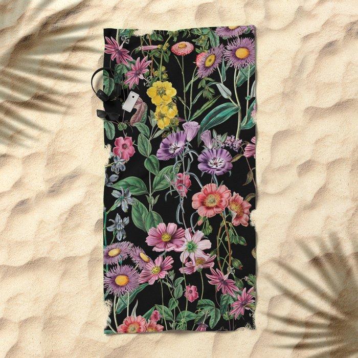 NIGHT FOREST XIV Beach Towel